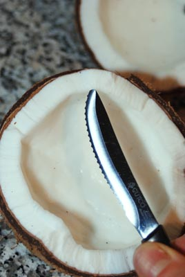 remove coconut meat