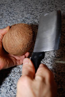 coconut meat cleaver